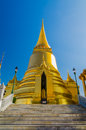 Phra sri rattana chedi in wat phra kaew bangkok thailand lankan style is the main stupa temple of the emerald buddha Royalty Free Stock Photography