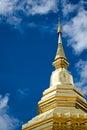 Phra thart jom khitti statue of wat Stock Photography