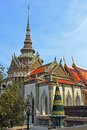 Phra wihan yod bangkok thailand at the wat kaeo kaew temple complex of the temple of the emerald buddha in Stock Photo