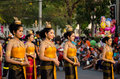 Phranakhonkhiri festival parade on street phetchaburi thailand march th participants in public in front of khao wang phetchaburi Stock Photos
