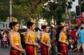 Phranakhonkhiri festival parade on street phetchaburi thailand march th participants in public in front of khao wang phetchaburi Stock Images