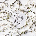 Phrase oh happy day written in calligraphy style Royalty Free Stock Photo