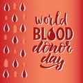 Phrase World blood donor day.
