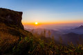 Phu chee fah sunrise view at chiangrai thailand Stock Images