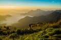 Phu chi fa view mountain Royalty Free Stock Photos