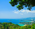Phuket bay viewpoint at in he south of thailand Royalty Free Stock Image