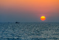 Phuket coastline mai khao beach sunset Stock Photos