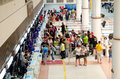 Phuket oct passengers arrive at check in counters at phuke airport on thailand the airport density is the second Stock Photos
