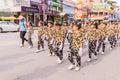 Phuket, Thailand - Aug 26, 2016 : Parade of various schools in Phuket