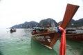 Phuket thailand january landscape sea kayak excursion boat asia on january in Stock Image