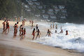 Phuket thailand january storm on the ocean coast on january in Stock Photos