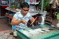 Phuket, Thailand: Jung Ceylon Glass Blower Royalty Free Stock Photos