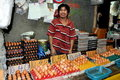 Phuket, Thailand: Man Selling Eggs Stock Image