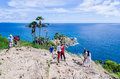Phuket thailand may unidentified groups of tourists rela relax and take photo at the phromthep cape the most famous tourist Royalty Free Stock Photography