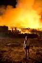 Phuket thailand oct fire in superstore catch fire in supe super cheap ฺbig substantial damage on october Royalty Free Stock Image