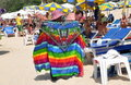 Phuket, Thailand: Woman Selling Clothing on Beach Stock Photography