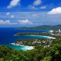Phuket viewpoint thailand bird eye view of Royalty Free Stock Images