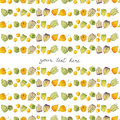 Physalis or chinese lanterns. Seamless watercolor pattern
