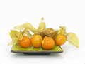 Physalis fine on white background Stock Photo