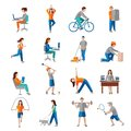 Physical activity icons Royalty Free Stock Photo