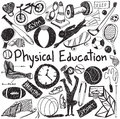 Physical education exercise and gym education chalk handwriting Royalty Free Stock Photo