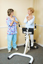 Physical Therapist with Chiropractic Patient Royalty Free Stock Photos