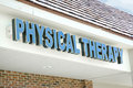Physical therapy sign Royalty Free Stock Photo