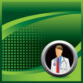 Physician on green halftone advertisement Stock Images