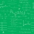 Physics formulas seamless pattern Royalty Free Stock Photo