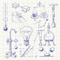 Physics hand drawn doodle eps cmyk organized by layers global colors gradients free Stock Photo