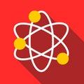Physics icon, flat style