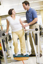 Physiotherapist With Patient In Rehabilitation Royalty Free Stock Photo
