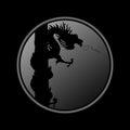 Pièces de monnaie de dragon Image libre de droits