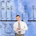 Più nuove tecnologie nella filiale di potenza Immagini Stock