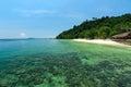 Piękna plaża i kurort Fotografia Stock