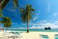Piękna plaża i kurort Zdjęcie Royalty Free