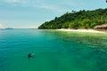 Piękna plaża i kurort Zdjęcia Stock