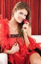 Piękni target305_0_ czerwieni róży seksowni kobiety potomstwa Fotografia Royalty Free