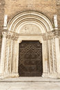 Piacenza ancient church of san francesco emilia romagna italy Royalty Free Stock Photos