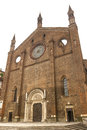 Piacenza ancient church of san francesco emilia romagna italy Stock Photos