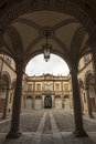 Piacenza ancient palace emilia romagna italy anguissola di grazzano the court Stock Photos