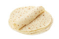Piadina tortilla and wrap on white clipping path included Royalty Free Stock Image
