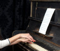 Pianist musician piano music playing Royalty Free Stock Photos