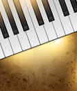 Piano background vintage with keys and notes Stock Photography