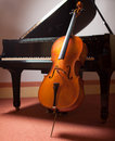 Piano and cello classical music concept Royalty Free Stock Photography