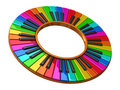 Piano color wheel Royalty Free Stock Image