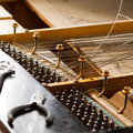 Piano disassemble old inside wire Royalty Free Stock Image