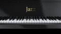 Piano jazz front view music Stock Photography
