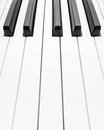 Piano keyboard close abstract background Royalty Free Stock Photography
