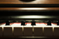 Piano keyboard detail Royalty Free Stock Photo